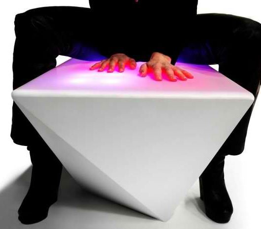 Interactive Multi Colored LED Light Benches by NunoErin