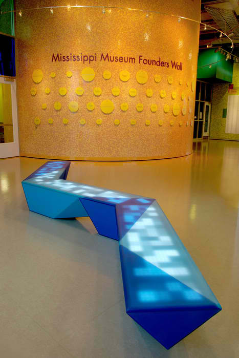 Interactive Multi Colored LED Light Benches by NunoErin2