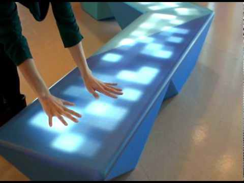 Interactive Multi Colored LED Light Benches by NunoErin5