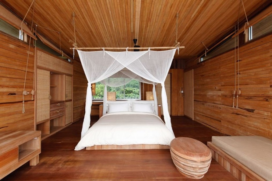 Six senses con dao resort in vietnam by aw architecture workshop decoholic for Wooden bed designs pictures interior design