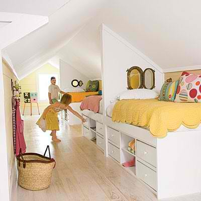 girls attic room