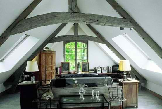 great attic room