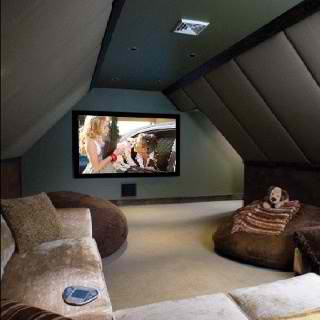 home theater attic room