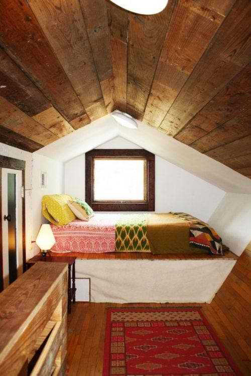 simple attic bedroom