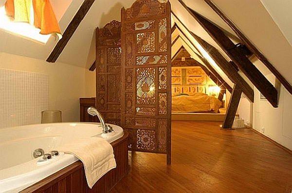 attic master bedroom and bathroom