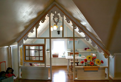 magnific attic bedroom