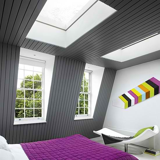 ultra modern attic room
