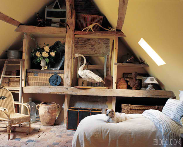 traditional attic room