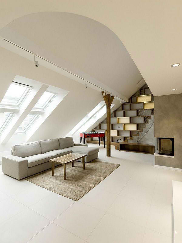 attic concrete loft