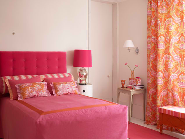 pink and orange bedroom design 5 ideas