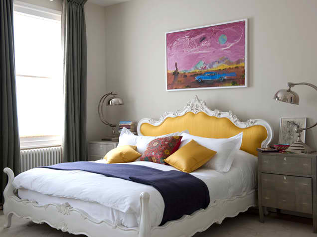 yellow and grey bedroom design ideas