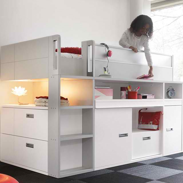 Compact top bunk bed by gaultier decoholic for Compact beds