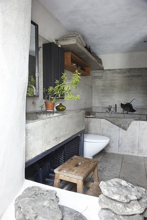 concrete bathroom 12