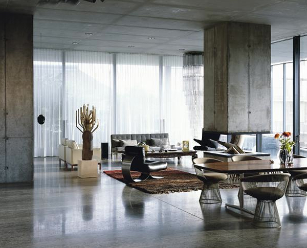 concrete living room 13