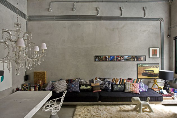 concrete living room 14  10 Beautiful Living Room Ideas concrete living room 14