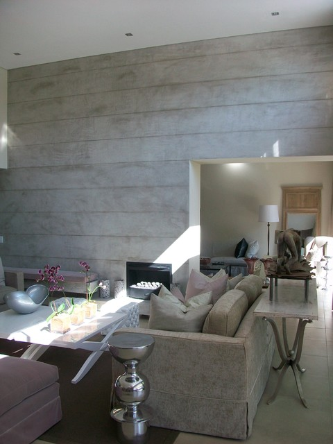 concrete living room 21
