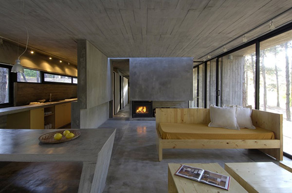 concrete living room 8