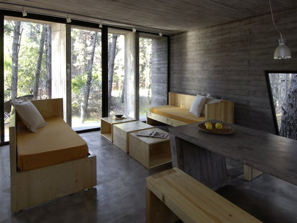 concrete living room 9