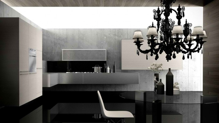 valcucine contemporary aluminium kitchen
