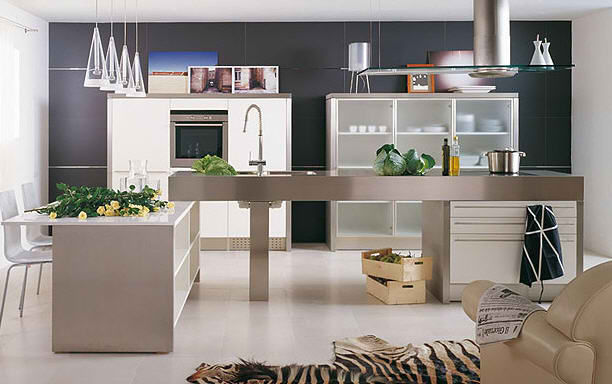 GAMADECOR contemporary aluminium kitchen