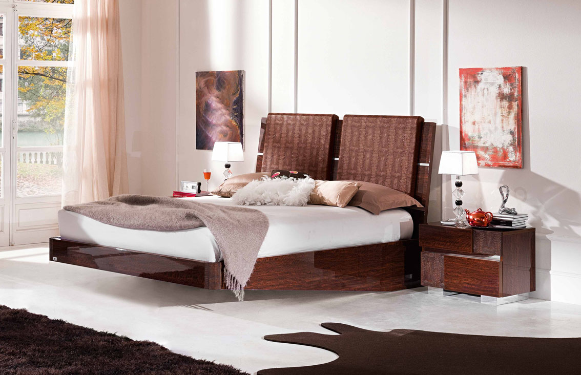 20 contemporary bedroom furniture ideas decoholic for Cool bed head ideas