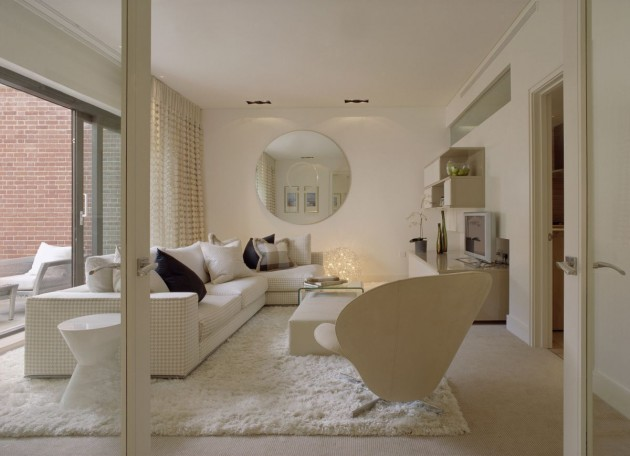 white contemporary living room by shh