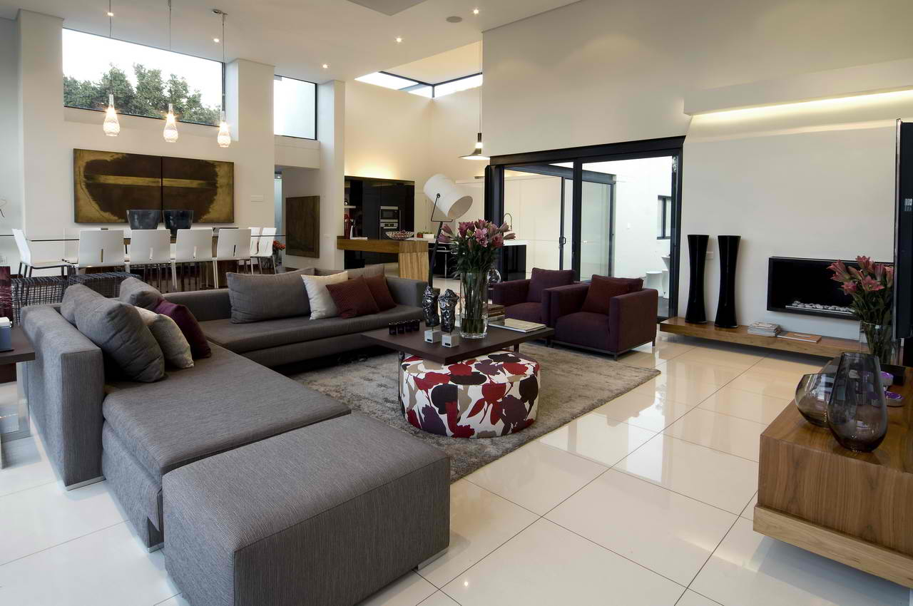contemporary living room design ideas - decoholic