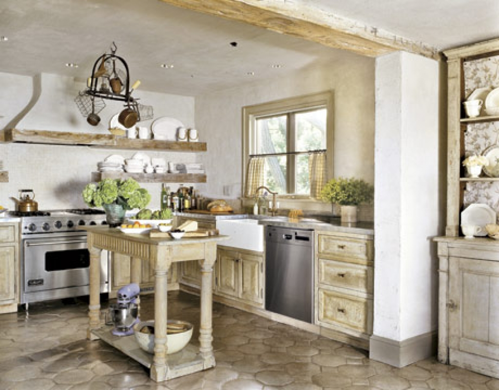 Attractive country kitchen designs ideas that inspire you for Rustic white kitchen cabinets
