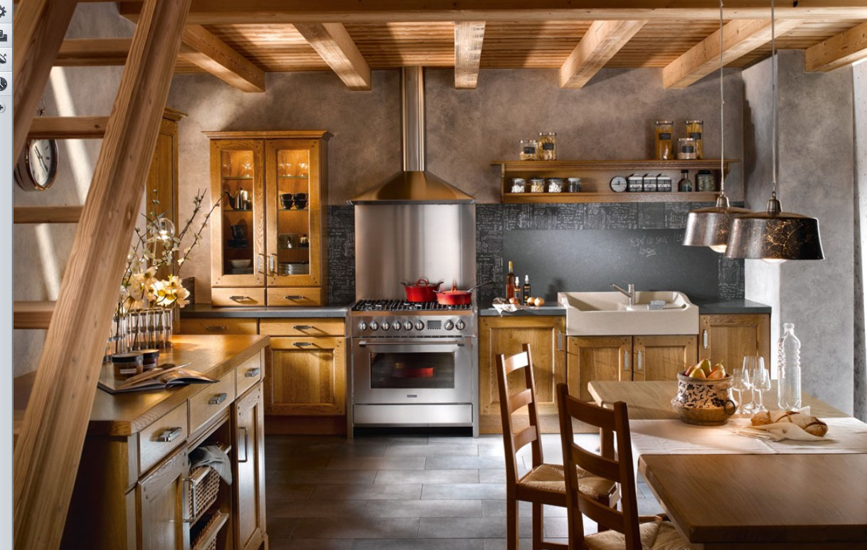 Country Interior Decorating Ideas: Attractive Country Kitchen Designs