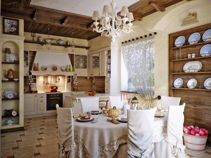 awesome country kitchen design by Svetlana Nezus Interior Designs