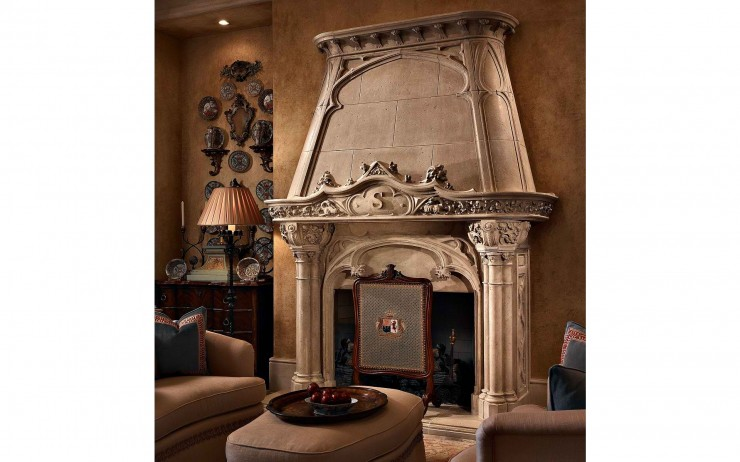 english style fireplace mantel