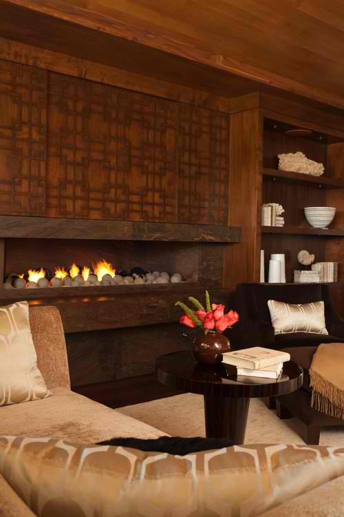 wood fireplace mantel surround