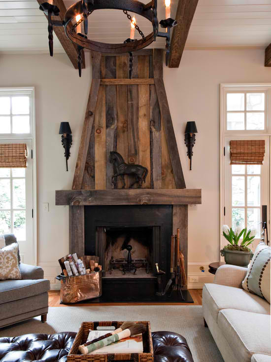wood fireplace mantel  15