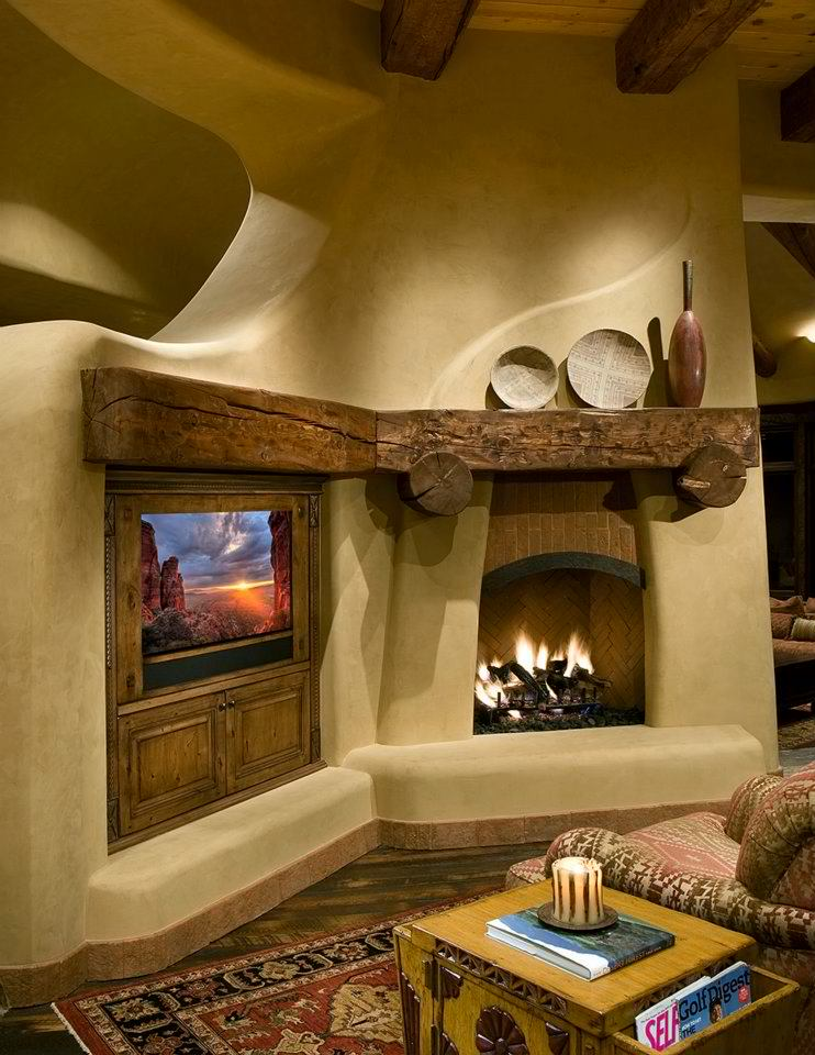 20 fireplace mantels to set your fireplace on fire decoholic for Adobe home design