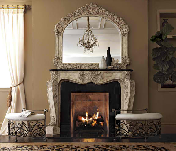 french fireplace mantel surround
