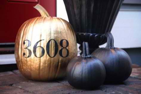 gold pumpkin halloween decorating ideas