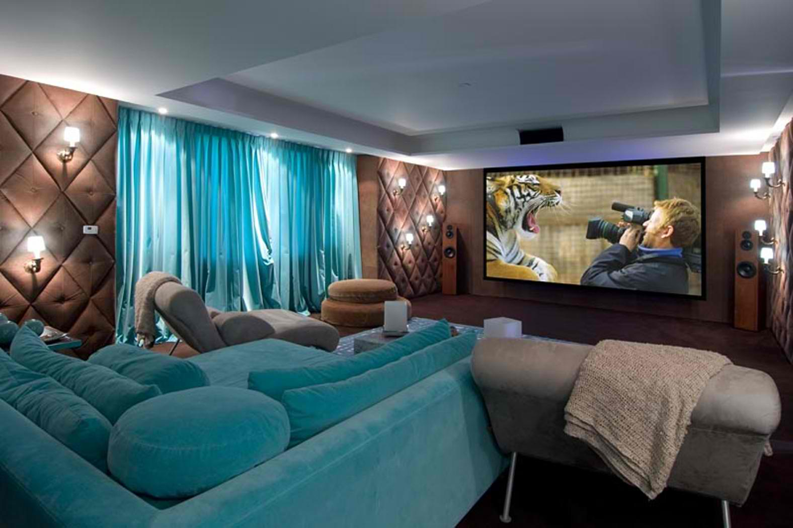 20 stunning home theater rooms that inspire you decoholic - Living room home theater ...