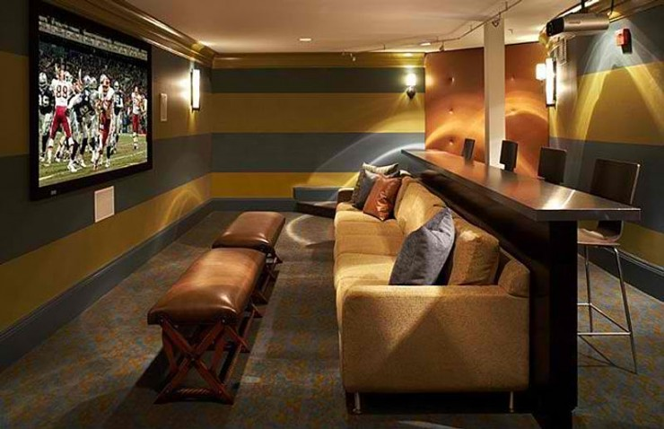 garage gym name ideas - 20 Stunning Home Theater Rooms That Inspire You Decoholic