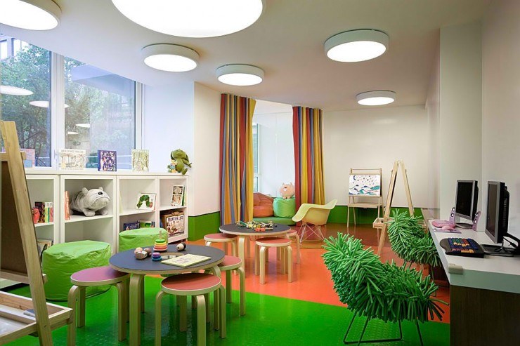green kids playroom