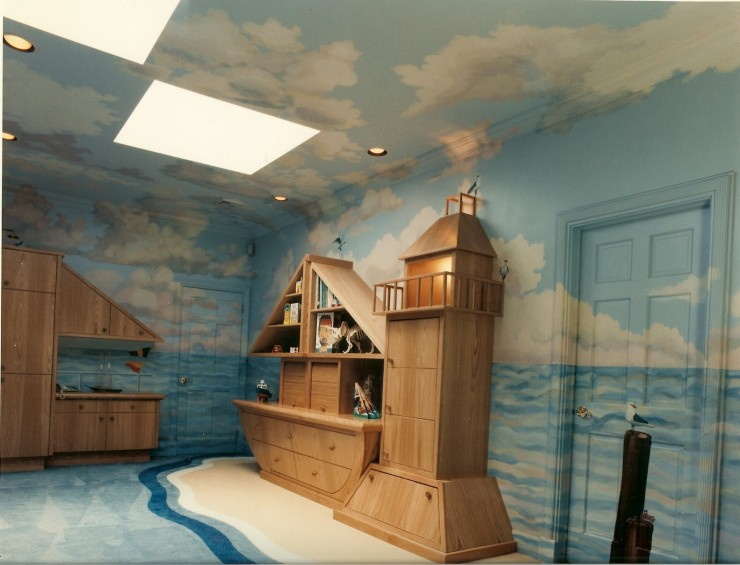 nautical kid;s playroom