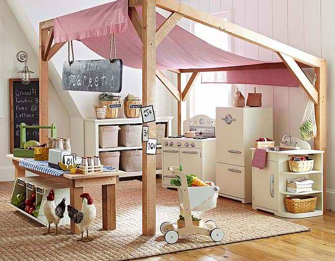 20 great kid 39 s playroom ideas decoholic for Kids play rooms