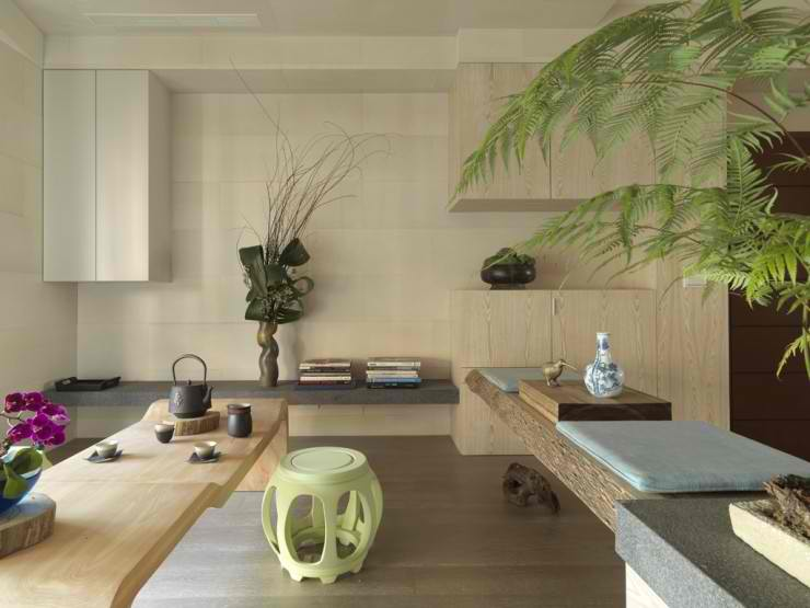 modern asian living room design