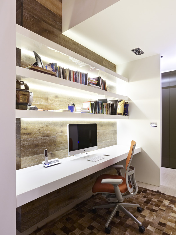 modern home office shelves ideas