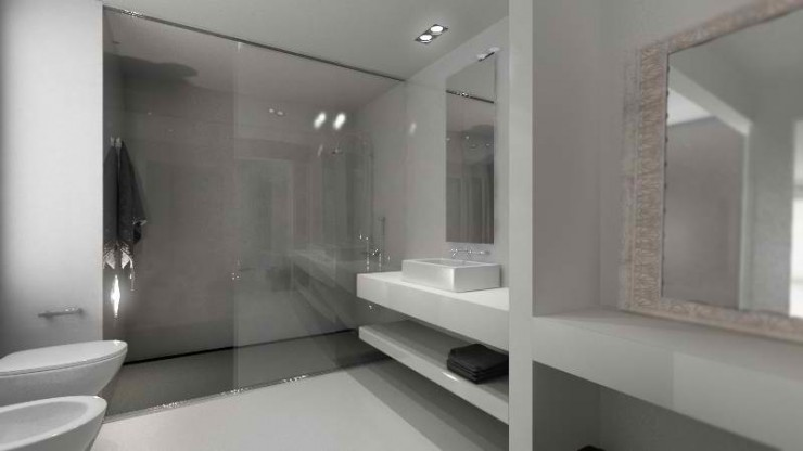 modern minimal bathroom by sussana cots