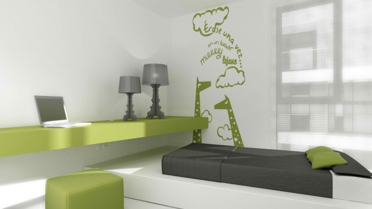 modern green kids room by sussana cots