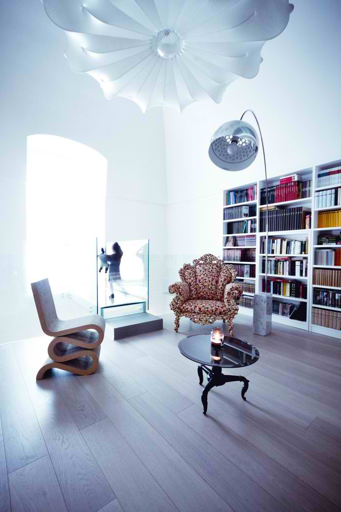 modern library and reading corner interior design