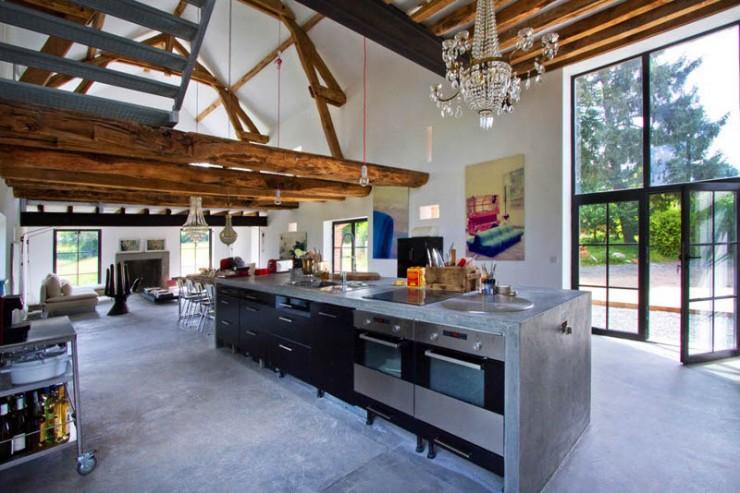 rustic modern concrete interior design 3 ideas