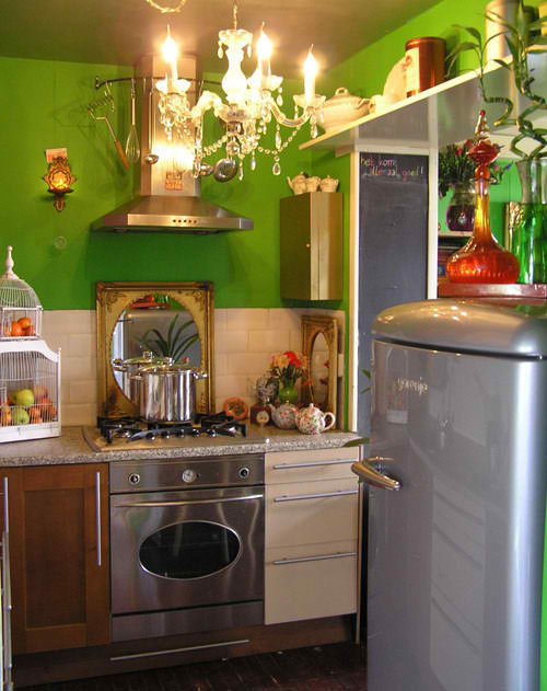 small eclectic kitchen design 20