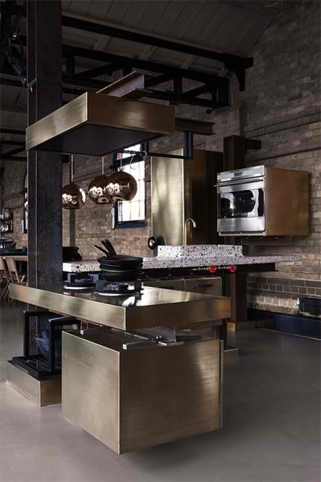10 stylish aluminium stainless steel kitchen designs for Stainless steel kitchen designs