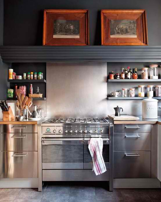 vintage stainless steel kitchen